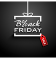 Black Friday sale gift vector image