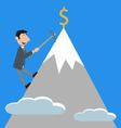 businessman climbs the mountain vector image vector image