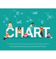 Chart concept vector image vector image