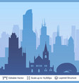 chicago famous city scape vector image vector image
