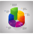 circle 3D diagram vector image vector image