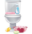 Cleaning Toilets vector image vector image