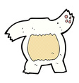 comic cartoon polar bear body mix and match or add vector image vector image