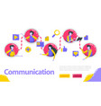 communication people are connected to each other vector image vector image