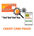 credit card fraud vector image vector image