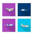 design of plane and transport symbol set vector image