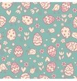 Doodle easter pattern vector image vector image