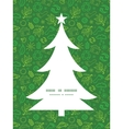 ecology symbols Christmas tree silhouette pattern vector image vector image