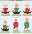 Elderly people yoga lifestlye symbols vector image vector image