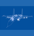 fighter plane concept vector image vector image