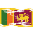 Flag of Sri Lanka with old texture vector image