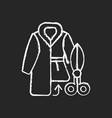fur repair and alterations chalk white icon vector image