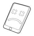 gadget broken icon outline style vector image vector image