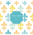 God and blue lily frame seamless pattern vector image vector image