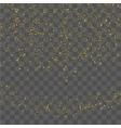 golden glitter confetti vector image