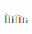 graph icon flat style business concept vector image vector image