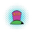 Grave icon comics style vector image vector image