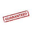 guaranteed sign sticker stamp texture vector image vector image