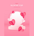 happy valentines day card with podium stage vector image