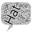 How To Wear A Hat text background wordcloud vector image vector image