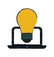 idea laptop technology sketch vector image