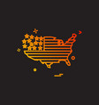 map america icon vector image vector image