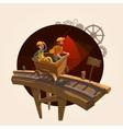 Mining cartoon concept vector image vector image