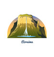 mount roraima peaks landscape early in a vector image