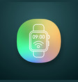 nfc smartwatch app icon vector image vector image