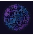 Online education round symbol vector image vector image