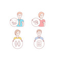 people restroom and bumper cars icons video file vector image vector image