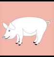 pig lining draw profile vector image vector image