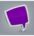 Purple cloud speech vector image vector image