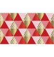 red and gold xmas carnival pattern vector image vector image