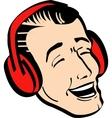 retro man earmuffs vector image vector image