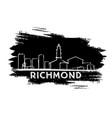 richmond skyline silhouette hand drawn sketch vector image vector image
