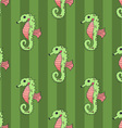 Seahorse seamless vector image vector image