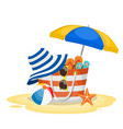 seascape sea beach beach bag vector image