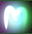 single light blue neon letter m of vector image vector image