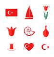 Turkey Icon set vector image vector image