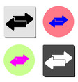 two arrow flat icon vector image vector image