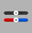 vs versus letters and arrows icon vector image