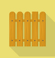 wood barrier icon flat style vector image