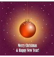 Christmas greeting card with decorative ball vector image