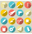Working Tools Icons Set 16 vector image