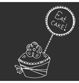 Hand drawn quote - eat cake vector image