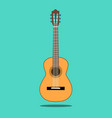 classical acoustic guitar isolated silhouette vector image