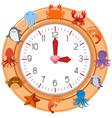 a clock with sea creature vector image