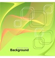 Abstract background in green orange yellow colors vector image vector image