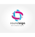Abstract colored circles logo icon concept vector image